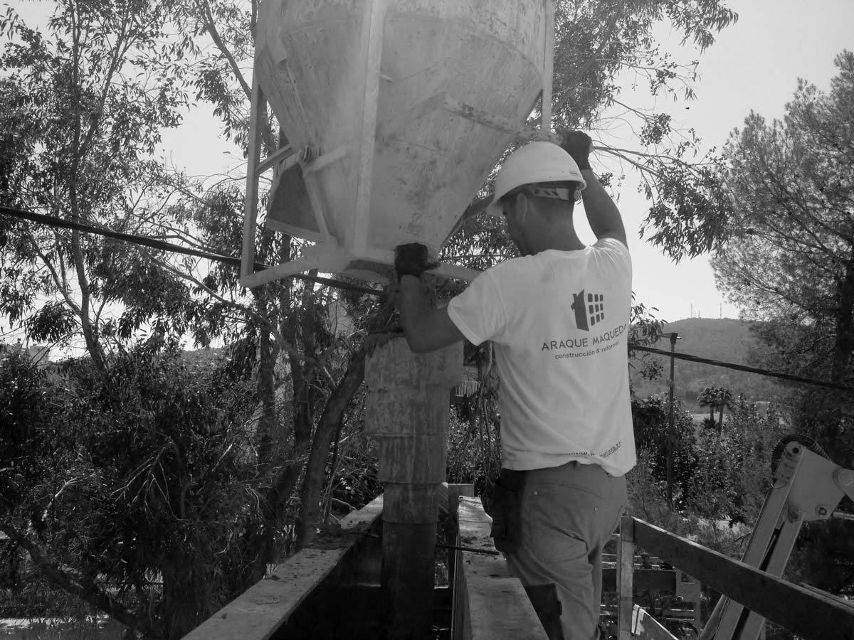 Construccion de cimientos en pinoso, Alicante por Araque Maqueda