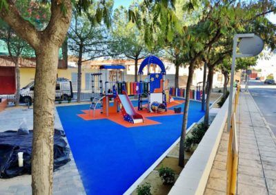 Construction of playground in Pinoso