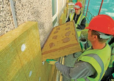 How to obtain good thermal insulation on facades.