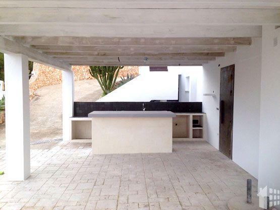 construccion-porche-de-madera-ibiza. Ideas para reformar la cocina por Araque Maqueda