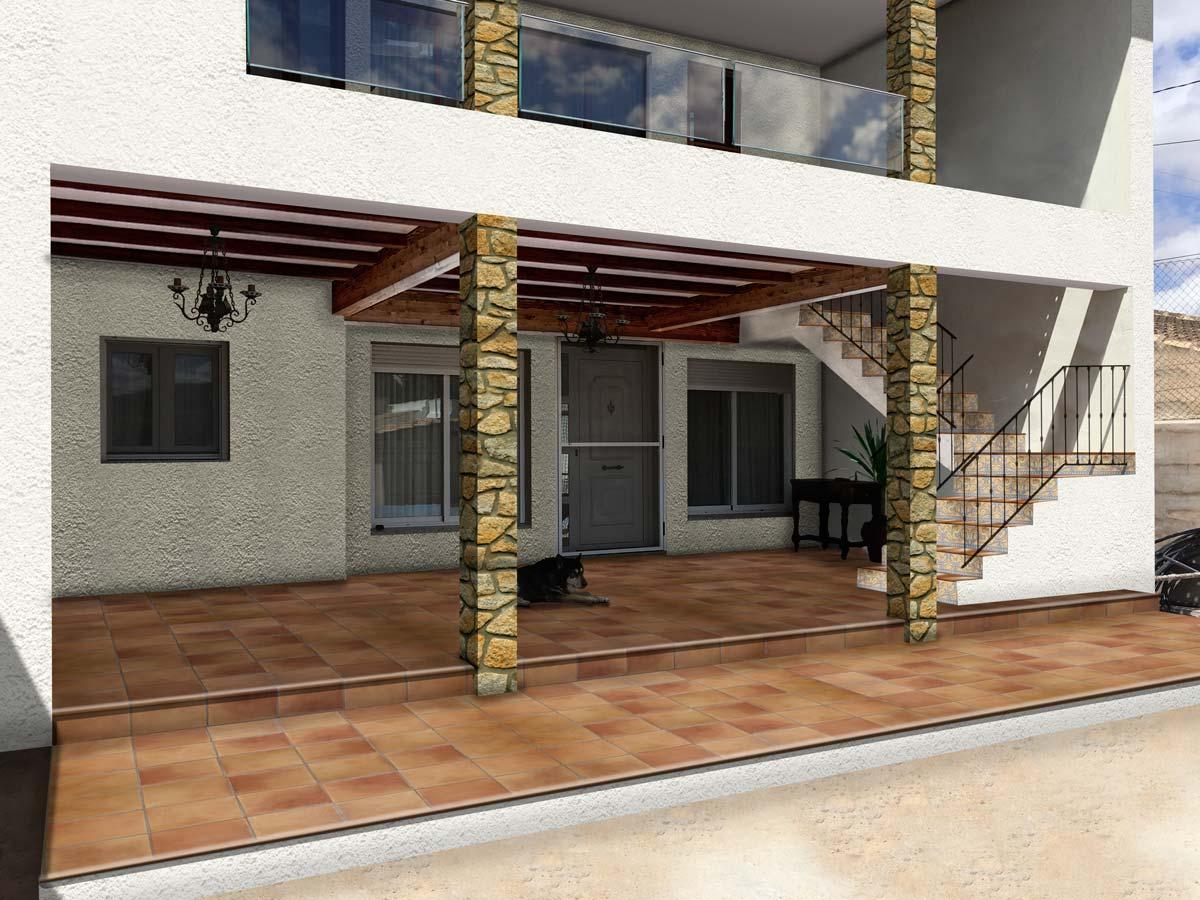 Render de Proyecto de ampliacion de vivienda unifamiliar en Pinoso