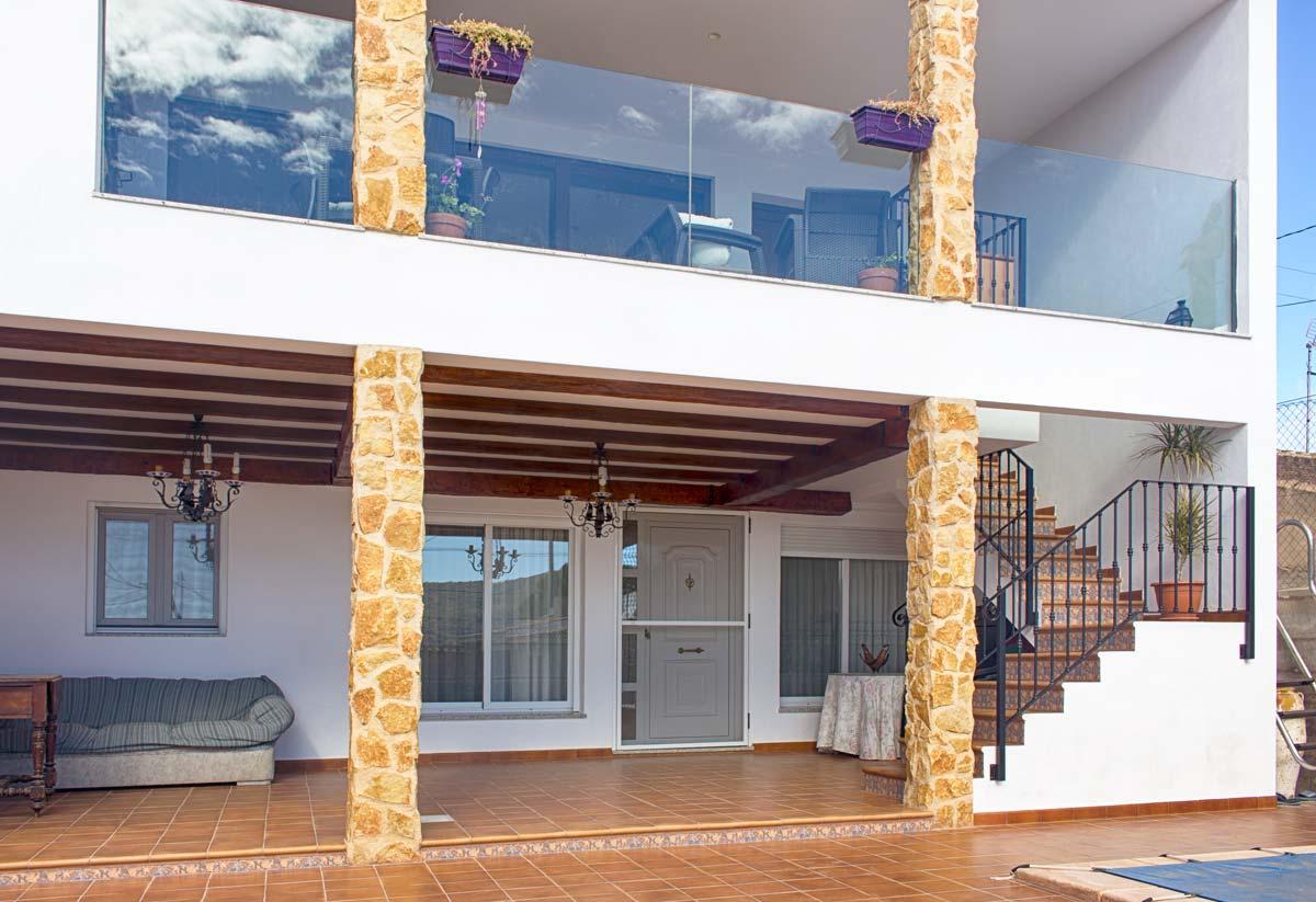 Estado final del porche. Proyecto de ampliacion de vivienda unifamiliar en Pinoso