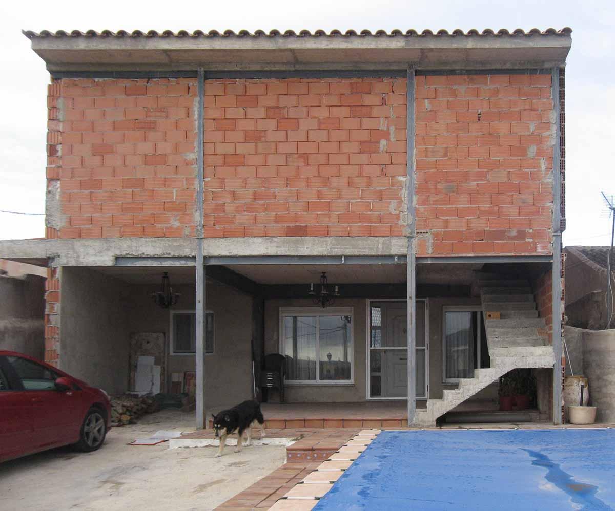 Estado previo fachada de Proyecto de ampliacion de vivienda unifamiliar en Pinoso