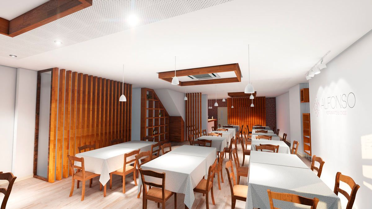 render previsualicacion Proyecto reforma restaurante en Pinoso (Alicante) por Araque Maqueda