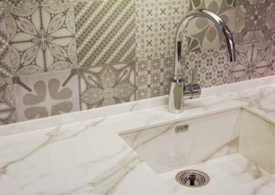 Fregadero marmol. Reforma vivienda Elda (Allicante) por Araque Maqueda