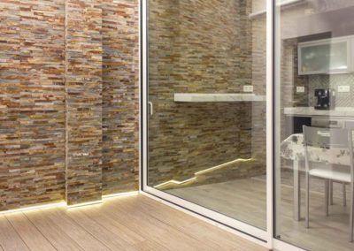 Patio cristalera. Reforma vivienda Elda (Allicante) por Araque Maqueda