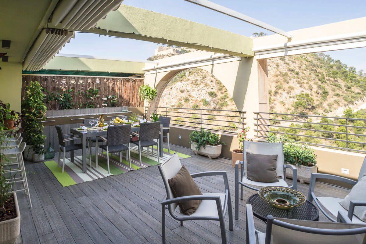 Atico de diseño en Alicante por Araque Maqueda Terraza
