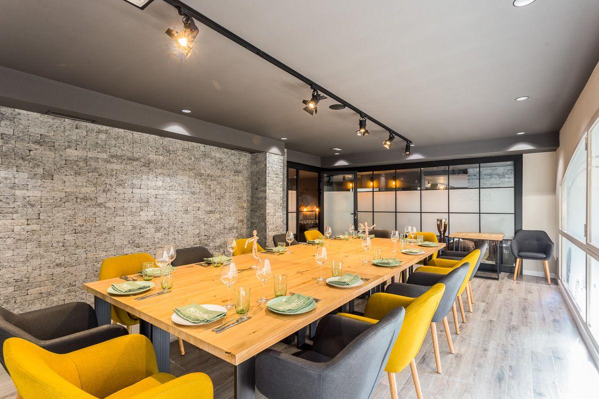 Interior reservado Mestizaje Elche Reforma de interiorismo en Restaurante por Araque Maqueda
