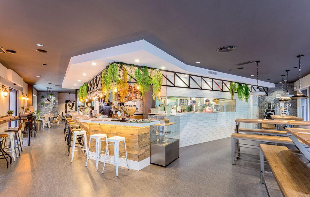 Vista general mestizaje Elche Reforma de interiorismo en Restaurante por Araque Maqueda