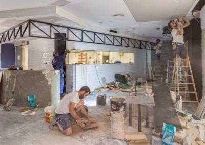Proyecto reforma de interiorismo de restaurante