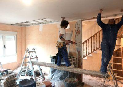 Obra de reforma de adosado en Pinoso (Alicante)