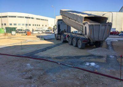 Obra de construccion de nave industrial en Alicante