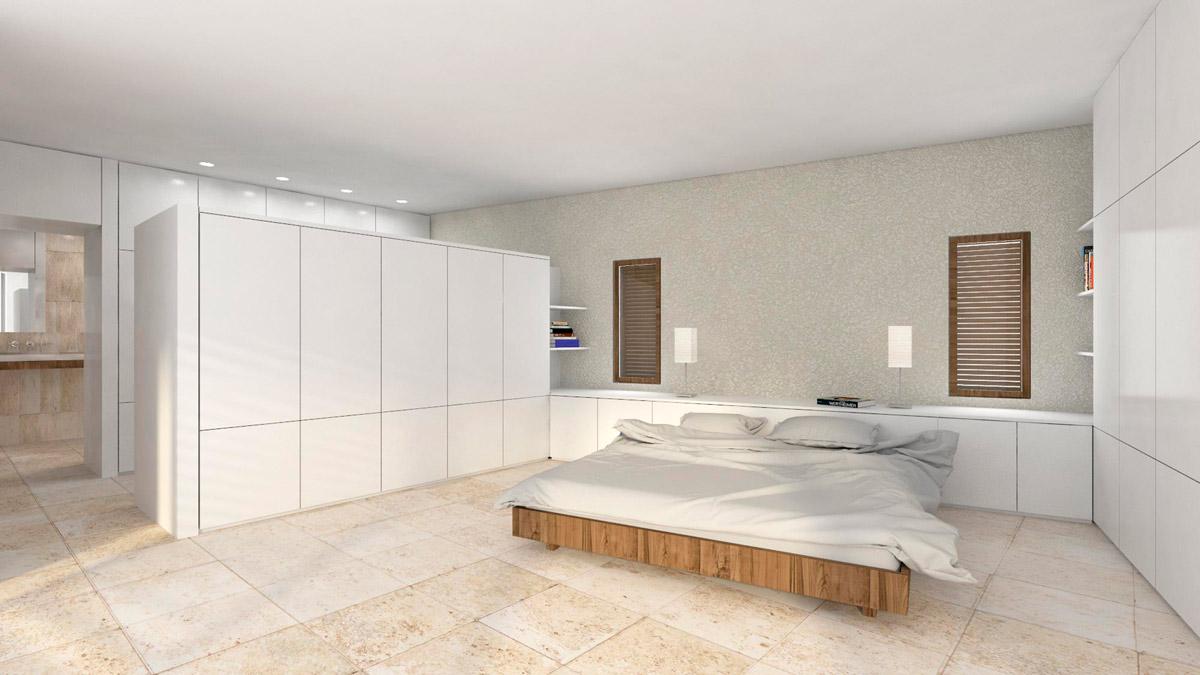 Render habitación Proyecto Chalet en Cabo de las Huertas (Alicante)