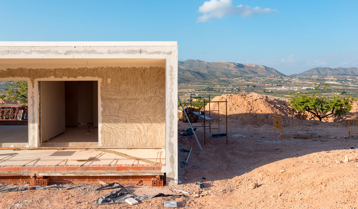 Detalle obra de proyecto de chalet en Hondón de las Nieves (Alicante) por Araque Maqueda