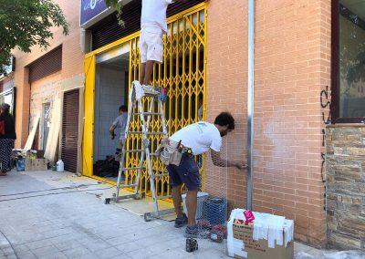 Proceso de reforma de asador de pollos en Alicante