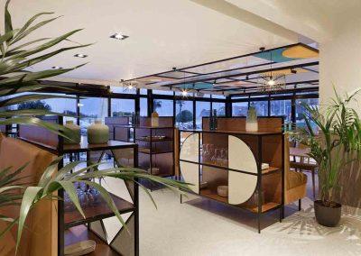 Mobiliario diseño restaurante Araque Maqueda