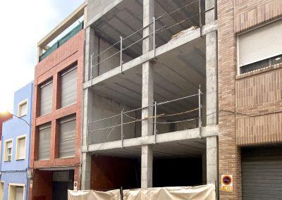 Construcción de vivienda entre medianeras en Alicante