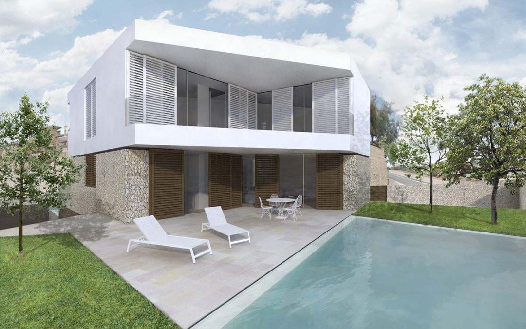 Proyecto de vivienda con piscina en el Cabo de las Huertas
